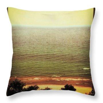 Lake Michigan M-22 Overlook Throw Pillow