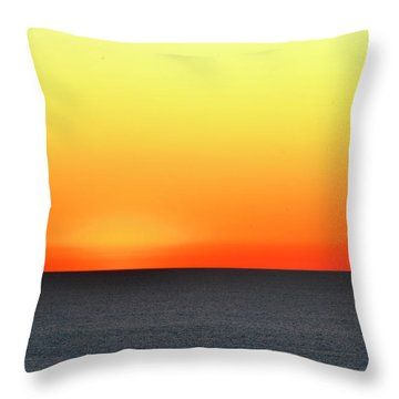 Lake Michigan Sunrise Throw Pillow by Zawhaus Photography