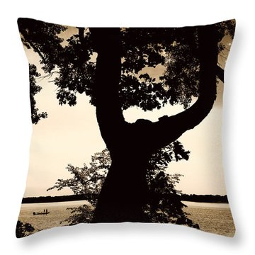 Lake Minnesota Throw Pillow