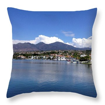 Lake Mission Viejo Throw Pillow