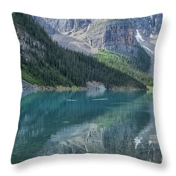Throw Pillow featuring the photograph Lake Moraine by Patricia Hofmeester