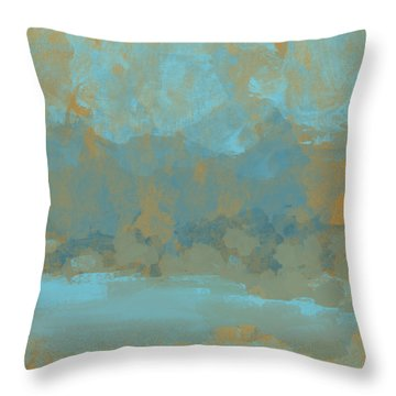 Lake Mountain Throw Pillow