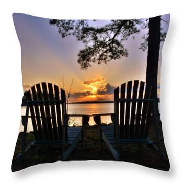 Lake Murray Relaxation Throw Pillow