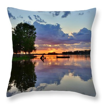Lake Murray Sc Reflections Throw Pillow