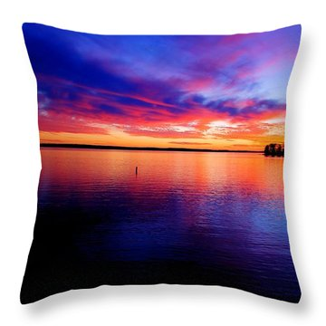 Lake Murray Sunset 21 Throw Pillow