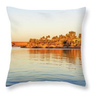 Lake Nasser In Abu Simbel Throw Pillow