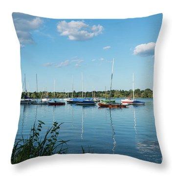Lake Nokomis Minneapolis City Of Lakes Throw Pillow