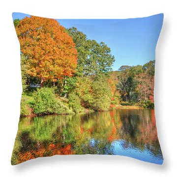 Lake Noquochoke, Dartmouth, Ma Throw Pillow
