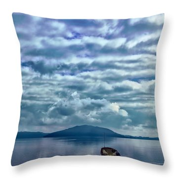 Lake Of Beauty Throw Pillow