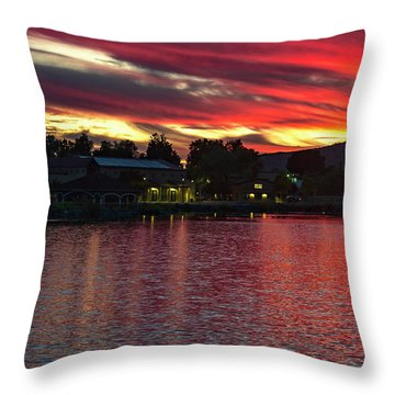 Throw Pillow featuring the photograph Lake Of Fire by Dan McGeorge