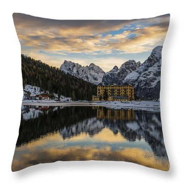 Throw Pillow featuring the photograph Lake Of Misurina by Yuri Santin
