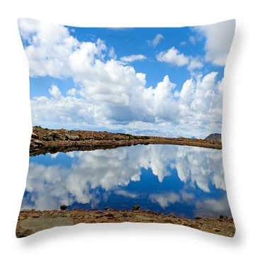 Lake Of The Sky Throw Pillow