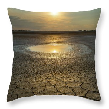 Lake On Fire Throw Pillow
