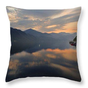 Lake Orta Throw Pillow by Joana Kruse