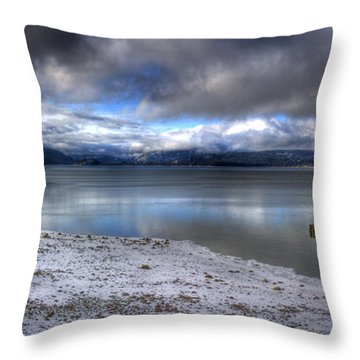 Lake Pend D'oreille At 41 South Throw Pillow
