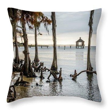 Lake Pontchartrain Uncropped Throw Pillow