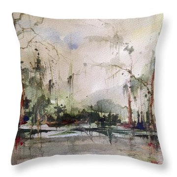 Lake Pontchartrain Yacht Club Mandeville Throw Pillow