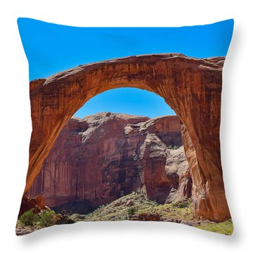 Throw Pillow featuring the photograph Lake Powell - Rainbow Bridge by Dany Lison