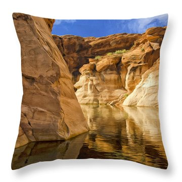 Lake Powell Stillness Throw Pillow by Dominic Piperata