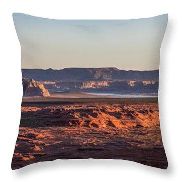 Lake Powell Sunrise Panorma Throw Pillow