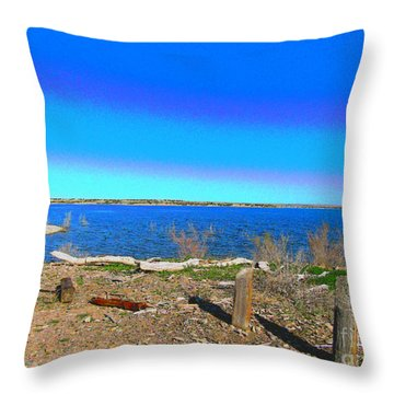 Lake Pueblo Painted Throw Pillow