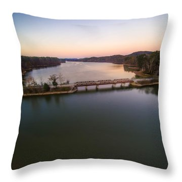 Lake Purdy At Grants Mill Throw Pillow
