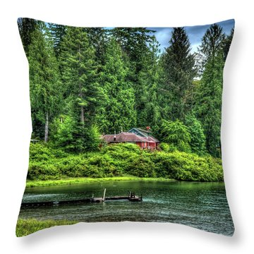 Lake Quinault 3 Throw Pillow