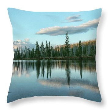 Lake Reflections Throw Pillow by Myrna Bradshaw