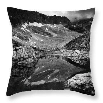 Throw Pillow featuring the photograph Lake Reflections by Yuri Santin
