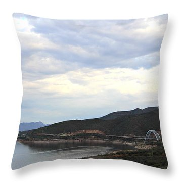 Lake Roosevelt Bridge 1 Throw Pillow