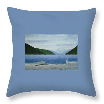 Lake Rotoroa, South Island, New Zealand Throw Pillow by Peter Farrow