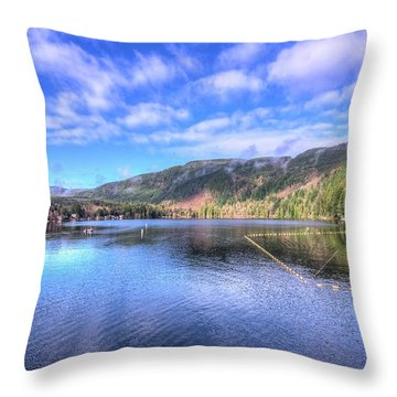 Throw Pillow featuring the photograph Lake Samish by Spencer McDonald