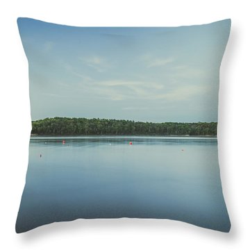 Lake Scene Throw Pillow by Scott Meyer