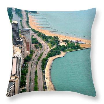 Lake Shore Dr . Chicago Throw Pillow