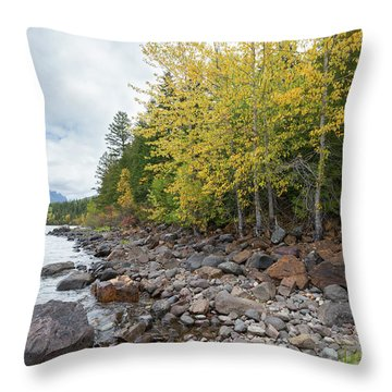 Throw Pillow featuring the photograph Lake Shore by Fran Riley