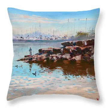 Lake Shore Mississauga Toronto  Throw Pillow