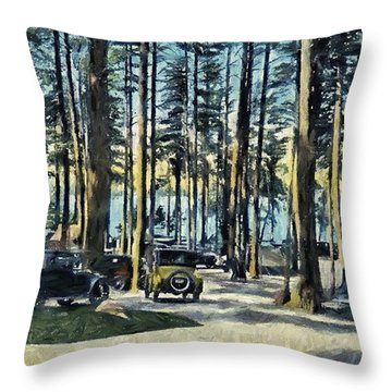 Lake Shore Park - Gilford N H Throw Pillow