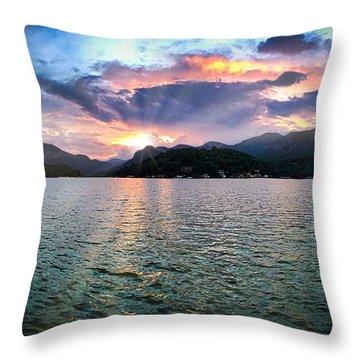 Lake Solstice Throw Pillow