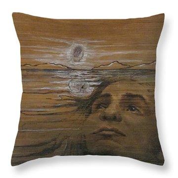 Lake Spirit Throw Pillow