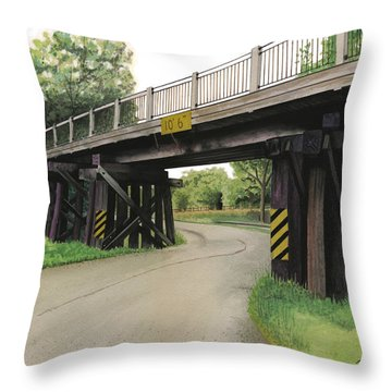 Lake St. Rr Overpass Throw Pillow