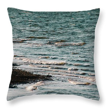 Throw Pillow featuring the photograph Lake Strom Thurmond by Andrea Anderegg
