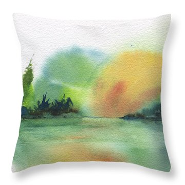 Lake Sunset Throw Pillow by Frank Bright
