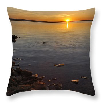 Lake Sunset Throw Pillow by Rob Graham