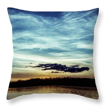 Lake Sunset Throw Pillow by Scott Meyer