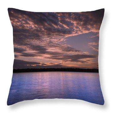 Lake Sunset Xv Throw Pillow