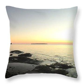 Lake Superior Evening Sky Throw Pillow