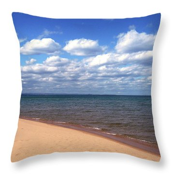Lake Superior In Summer Throw Pillow