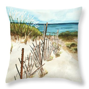 Lake Superior Munising Throw Pillow