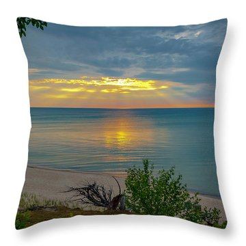 Lake Superior Sunset Throw Pillow