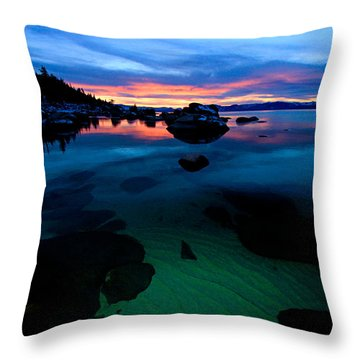 Lake Tahoe Clarity At Sundown Throw Pillow